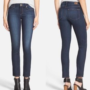 Paige skyline ankle peg dark wash jeans 24